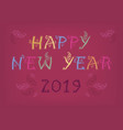 happy new year 2019 folk country vector image vector image