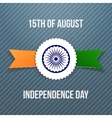 India Independence Day Badge with Ribbon vector image