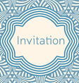 Invitation wedding or greeting card template vector image vector image