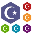 Islam rhombus icons vector image vector image