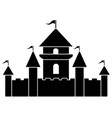 isolated castle icon vector image vector image