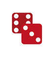 isolated dice design vector image
