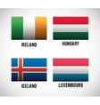 Isolated flags of europe design vector image