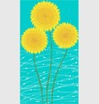 long card yellow dandelion vector image vector image