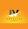 lv l v letter modern logo design with yellow vector image vector image