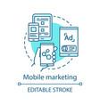 mobile marketing blue concept icon digital vector image vector image