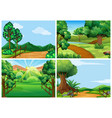 mountain scenes with tracks and trees vector image vector image