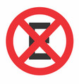 no stop and parking sign vector image vector image