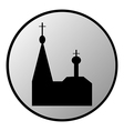 Orthodox church button vector image