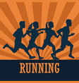 people running fitness lifestyle vector image vector image