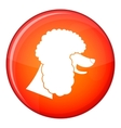 Poodle dog icon flat style vector image vector image