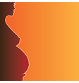 pregnant naked woman silhouette vector image vector image