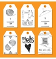 Printable tags in a retro style Hand-drawn Sewing vector image vector image