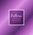 purple triangle pattern background vector image