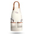 realistic cook apron vector image vector image