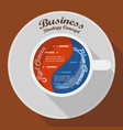 red ocean and blue ocean business strategy in cup vector image