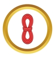 Red rope icon vector image vector image