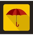 Red umbrella icon in flat style vector image vector image