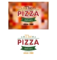 Retro pizza label or banner vector image