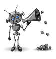 Robot with Speaker vector image