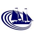 Sailing ship-12 vector image vector image