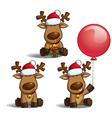 Santas Elks Sitting vector image vector image