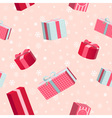 Seamless Christmas pattern with gift boxes vector image vector image