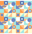seamless geometric colorful pattern with vector image vector image