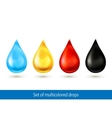 Set of multicolored drops vector image vector image