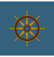 Ships Wheel Ship Equipment vector image vector image