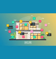 smart house system automation infographic modern vector image