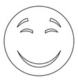 smile icon thin line vector image