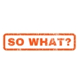 So What Question Rubber Stamp vector image vector image