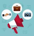 social media symbols vector image vector image