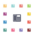 telephone flat icons set vector image vector image