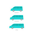 the size minivan transfer minibus vector image vector image