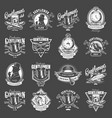 vintage gentleman club logotypes collection vector image
