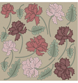 Vintage peony flowers vector image vector image
