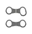 handcuffs vector image