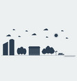 flat silhouette concept urban landscape vector image