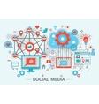 Social Network and Social Media vector image