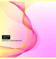 yellow pink smooth line background vector image