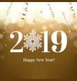 2019 new year postcard vector image vector image