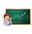 A businesswoman reporting vector image vector image