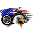 a motorcycle with the head vector image vector image