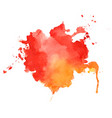 abstract red and orange watercolor texture vector image vector image