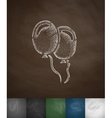 air balloons icon Hand drawn vector image