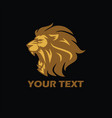 angry lion gold logo vector image vector image
