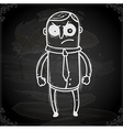 Angry Man Drawing on Chalk Board vector image vector image