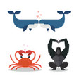 animals show love expression vector image vector image
